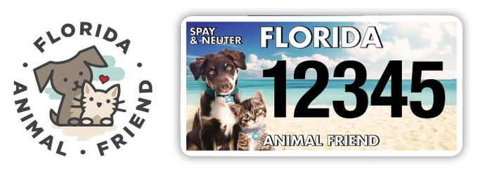 Florida Animal Friend License Plate