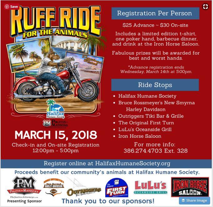 Ruff Ride Poker Run Bike Week 2018